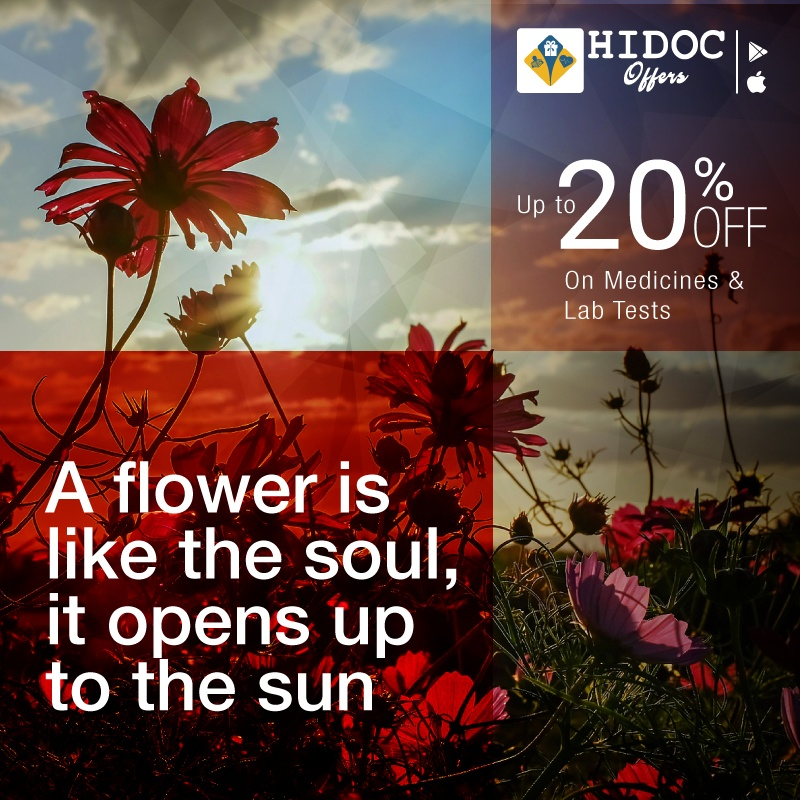 Health Tip - A flower is like the soul,  it opens up to the sun