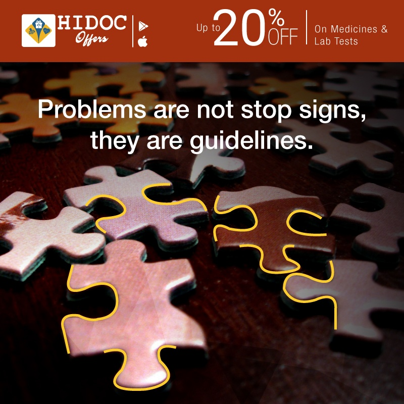 Health Tip - Problems are not stop signs, they are guidelines.