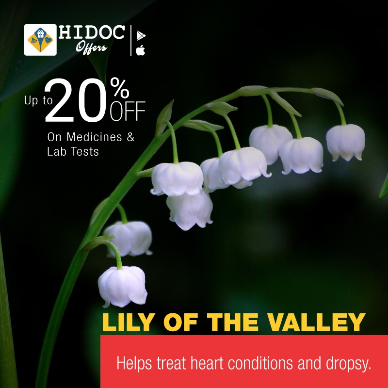 Health Tip - Lily of the valley... Helps treat heart conditions and dropsy.