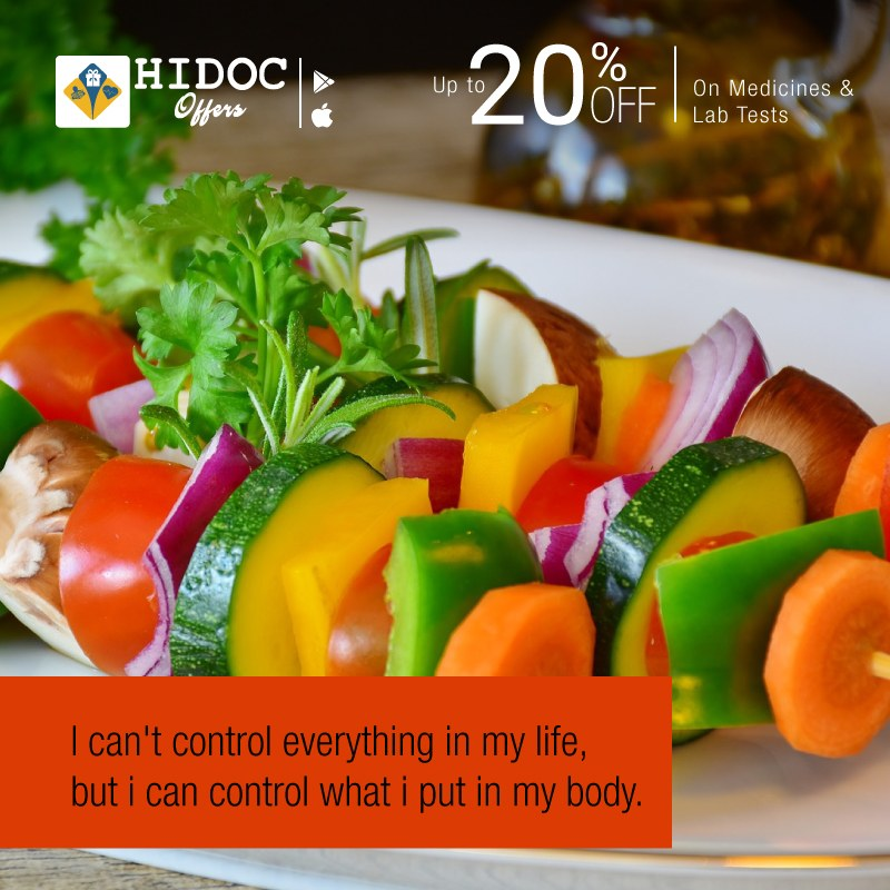 Health Tip - We can't control everything in our life, but we can control what we put in our body